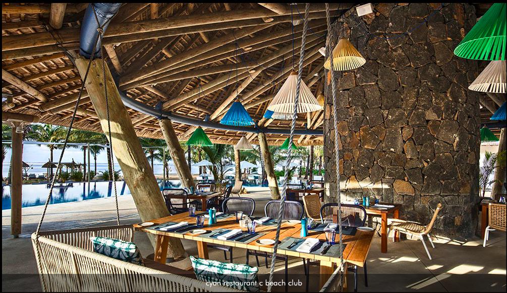 Rebellissime Domaine de Bel Ombre Cyan restaurant