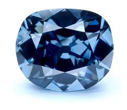Diamant de couleur bleu gris