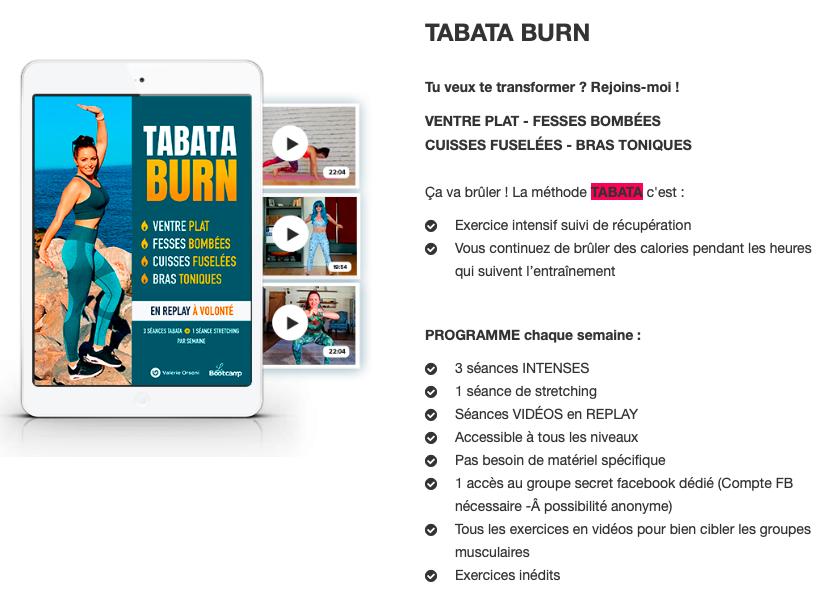 Rebel Tabata burn Valerie Orsoni
